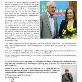 FDP Telegramm – Ausgabe Oktober 2018